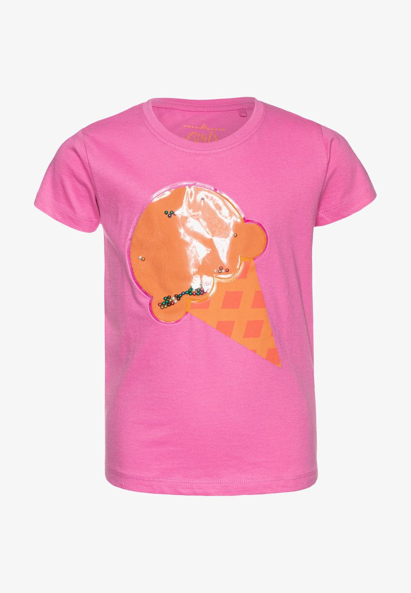 Lemon Beret - SMALL GIRLS  - T-shirt z nadrukiem - fushia pink
