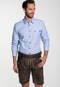 Spieth & Wensky - GOMEZ  - Leather trousers - brown - 0