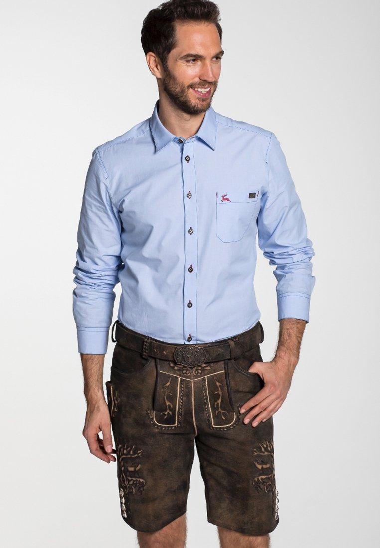 Spieth & Wensky - GOMEZ  - Leather trousers - brown