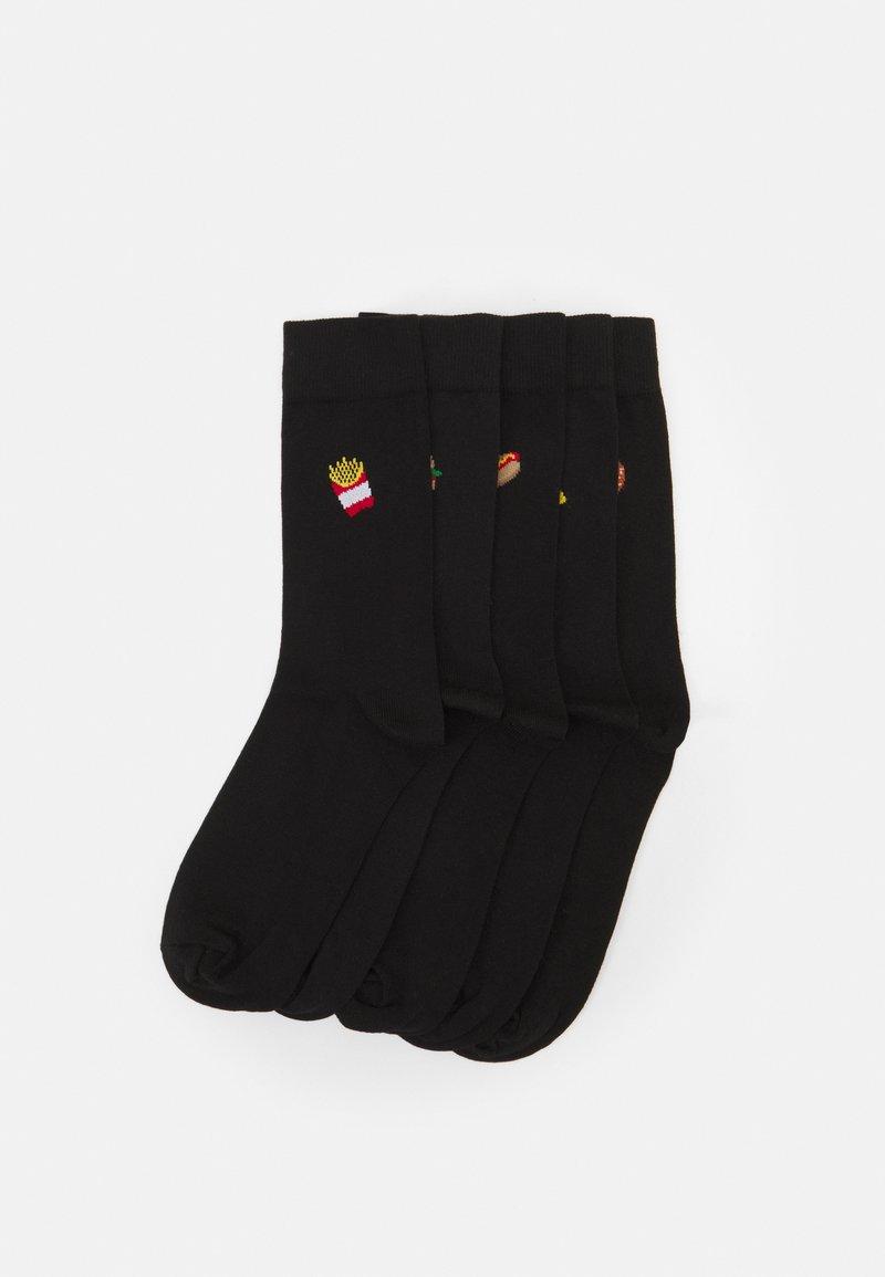 Pier One - 5 PACK - Ponožky - black