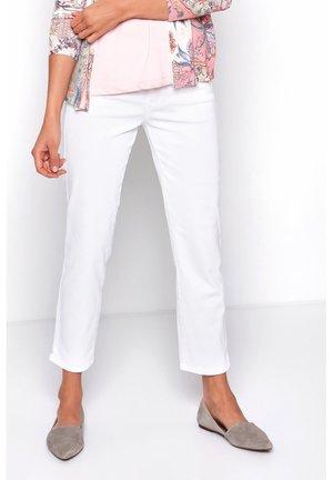 LIV 7/8 DENIM - Straight leg jeans - white