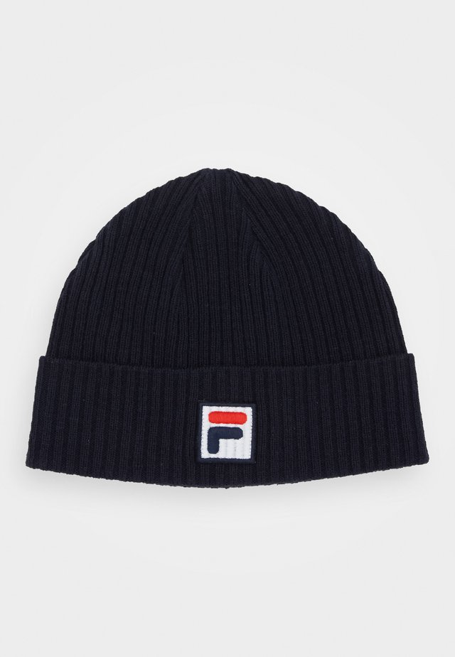 FISHERMAN BEANIE - Beanie - black iris