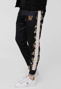 SIKSILK - CUFFED PANTS - Tracksuit bottoms - black/white/gold - 4