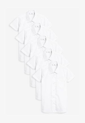 5 PACK SHORT SLEEVE FORMAL SHIRT - Camisa - white