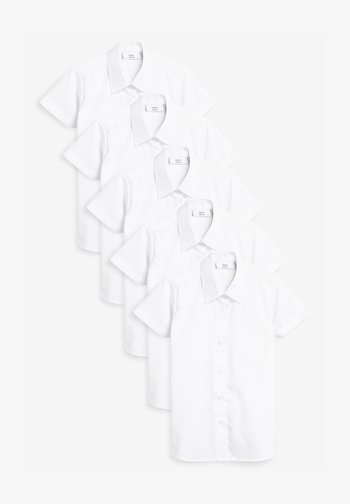 5 PACK SHORT SLEEVE FORMAL SHIRT - Button-down blouse - white