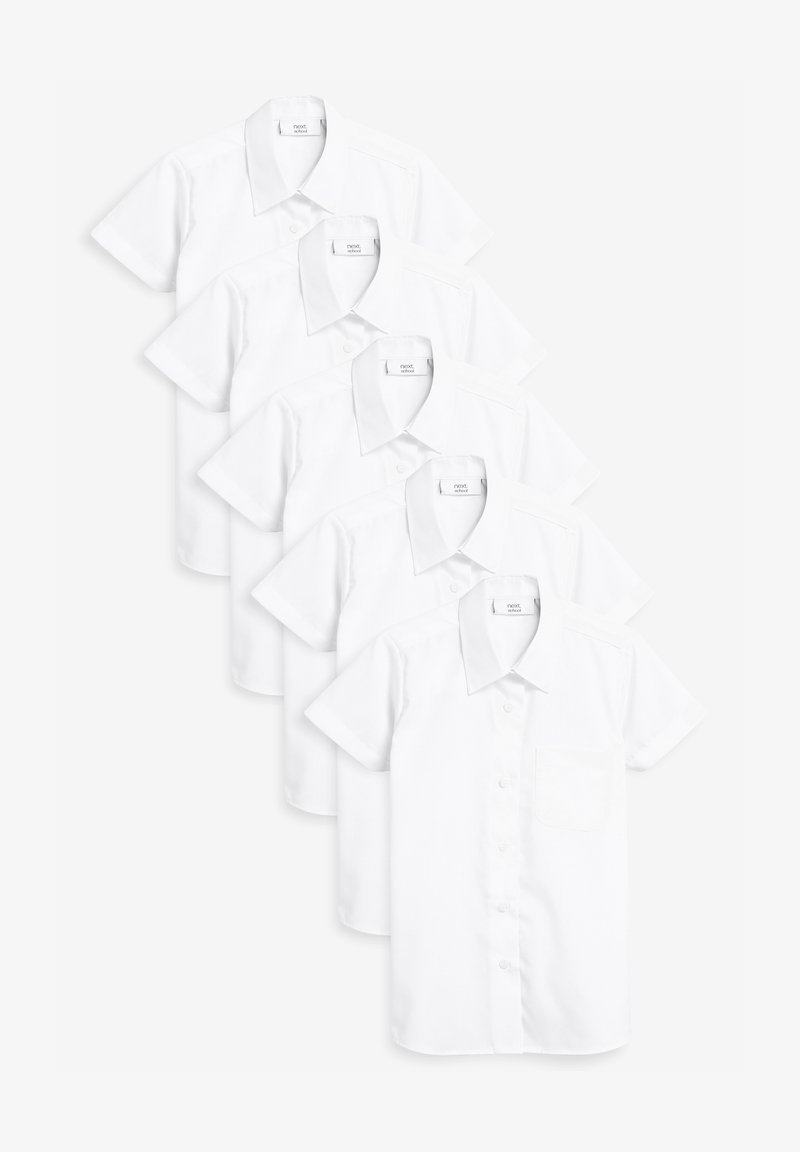 Next - 5 PACK SHORT SLEEVE FORMAL SHIRT - Button-down blouse - white