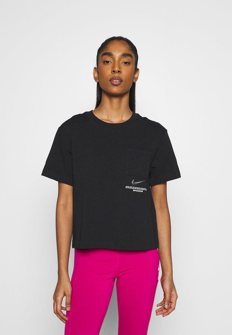 Nike Sportswear - Print T-shirt - black/white