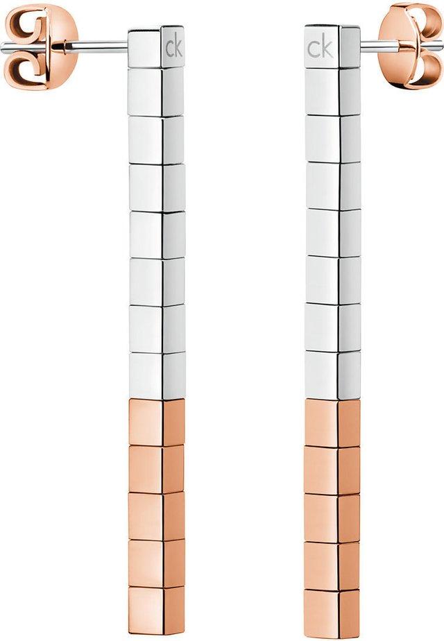 CALVIN KLEIN DAMEN-OHRSTECKER TUNE EDELSTAHL - Earrings - bicolor