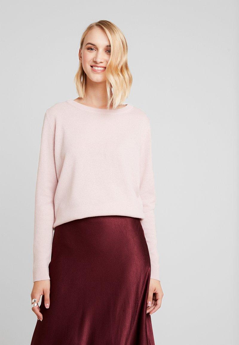 Selected Femme - SLFAYA O NECK - Jersey de punto - pale mauve