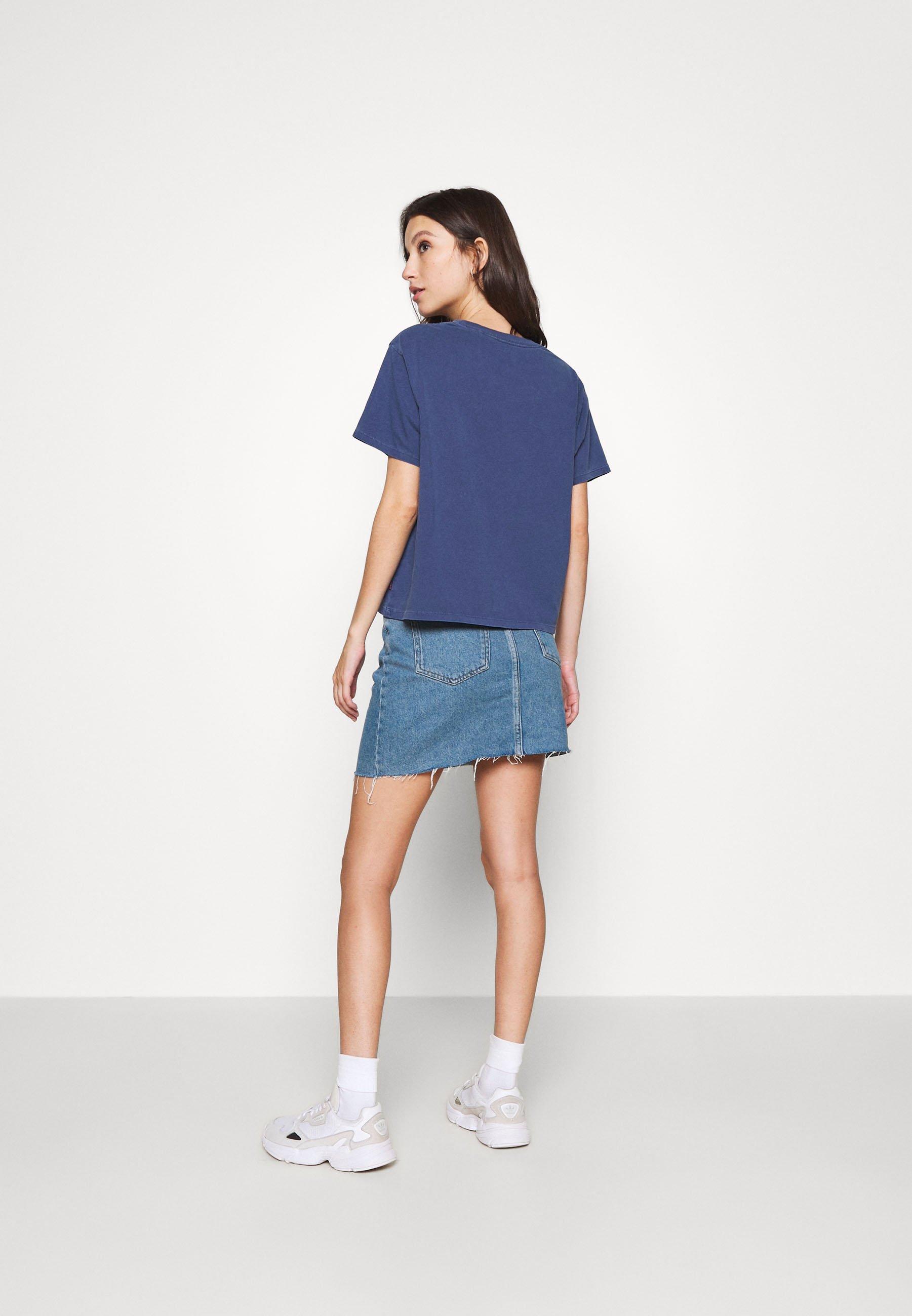 Levi's® Graphic Varsity Tee - T-shirts Med Print Outline Chesth/blå