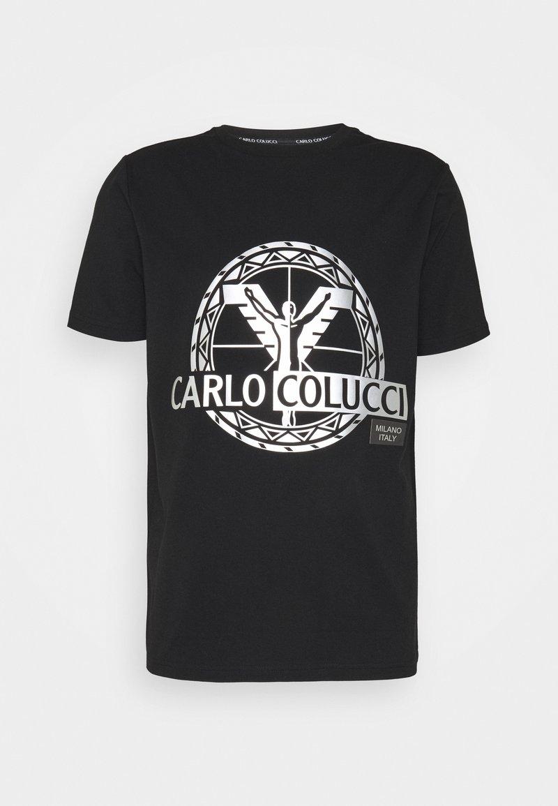 Carlo Colucci - BIG LOGO - Print T-shirt - black