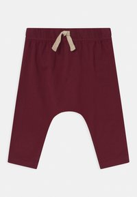 Cotton On - ANDERS 3 PACK UNISEX - Trousers - noir grape/burnt squash/red brick - 3