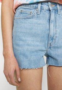 Weekday - ROWE - Denim shorts - blue moise - 3