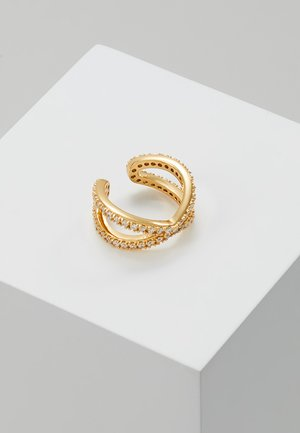 PAVE CROSS OVER SINGLE EAR CUFF - Earrings - gold-coloured