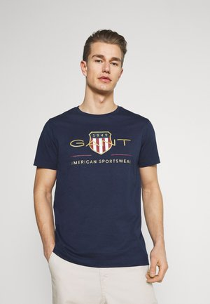 ARCHIVE SHIELD - T-shirt con stampa - evening blue