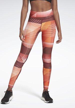 RUNNING LUX BOLD LEGGINGS - Leggings - red