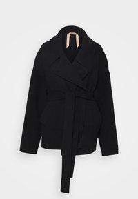 GIACCONE TESSUTO - Classic coat - nero