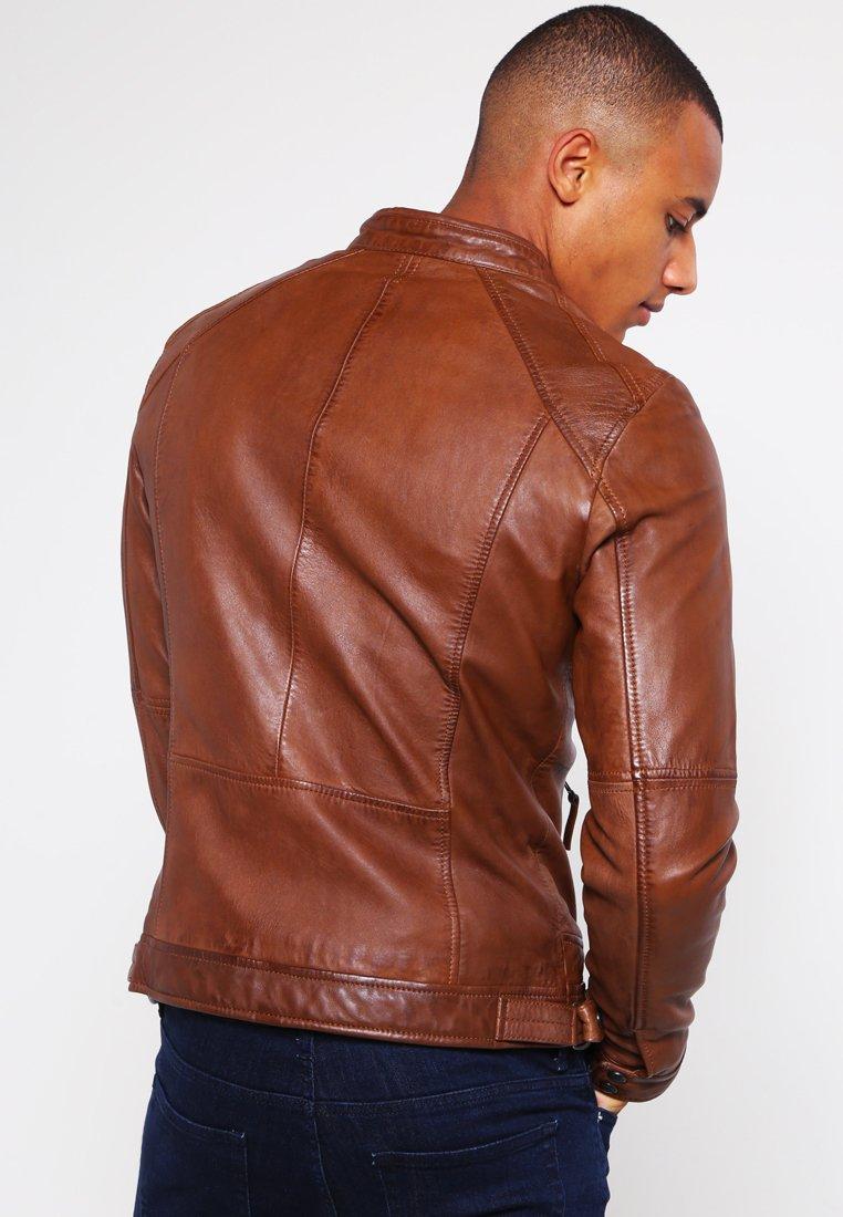 Offer Wholesale Oakwood CASEY  - Leather jacket - tobacco | men's clothing 2020 W9UUV