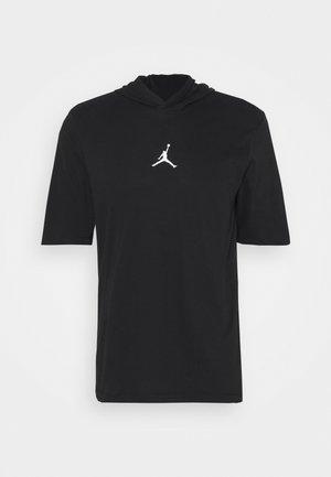 AIR HOODIE TEE - T-shirt print - black/white