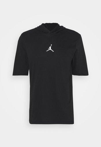 AIR HOODIE TEE - T-shirt con stampa - black/white