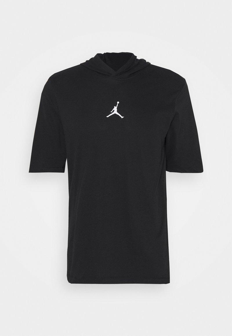 Jordan - AIR HOODIE TEE - Print T-shirt - black/white