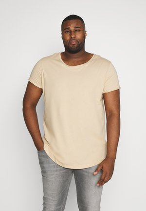 SHAPED TEE - T-shirt basique - dust beige