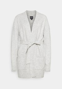 Gap Tall - BELTED OPEN SUPER PLUSH - Cardigan - grey - 4