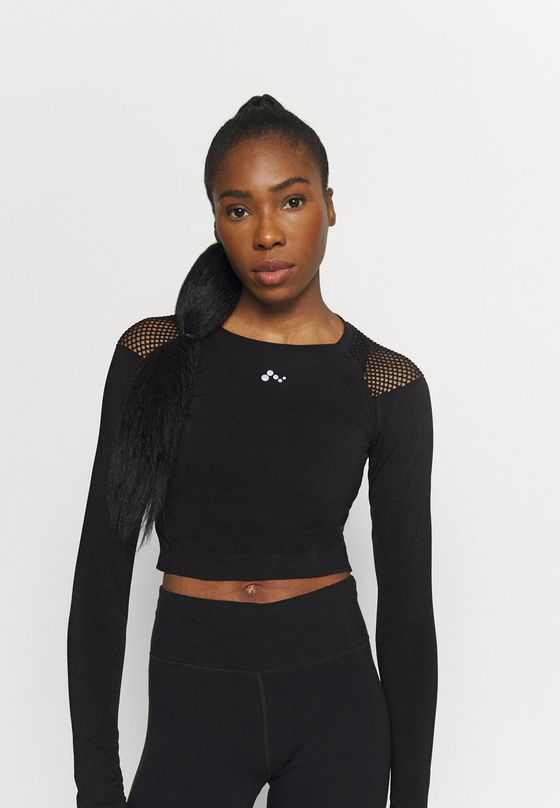 ONLY Play - ONPJABRIL SHORT - Long sleeved top - black