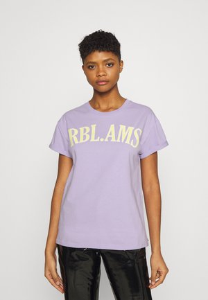 RBL AMS BOXY TEE - Triko spotiskem - lilac