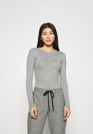 SCALLOP DETAIL - Sweter - mottled grey
