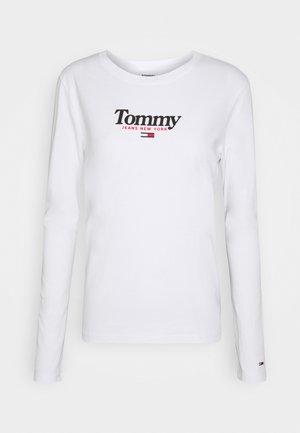 ESSENTIAL LOGO LONGSLEEVE - Long sleeved top - white