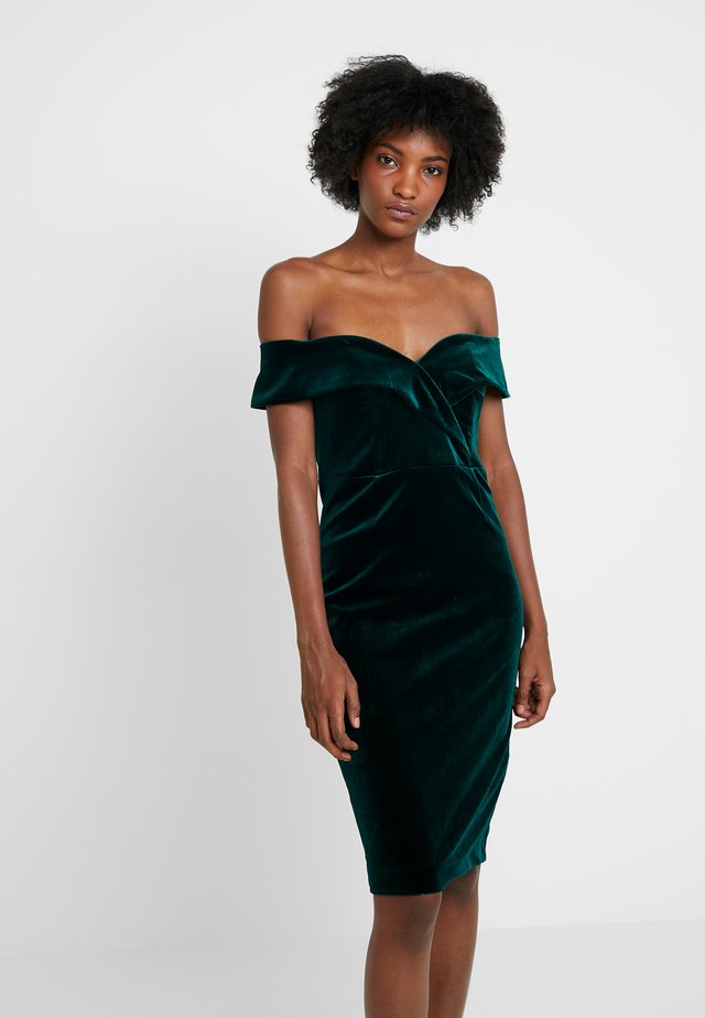 BELLA DRESS - Juhlamekko - dark green