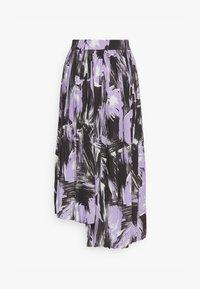 PLEATED ASYMM MIDI SKIRT - A-line skirt - lavender