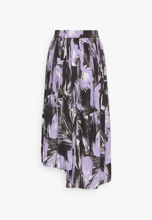 PLEATED ASYMM MIDI SKIRT - A-snit nederdel/ A-formede nederdele - lavender