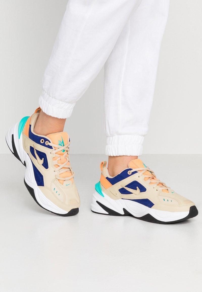 Nike Sportswear - M2K TEKNO - Trainers - desert ore/deep royal blue/fuel orange/hyper jade/black