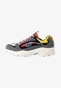 Skechers Sport - STAMINA - Trainers - charcoal/ red/yellow/ blue - 1