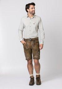 Stockerpoint - HANS - Leather trousers - havana - 1