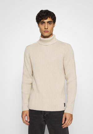 TURTLE NECK - Strikpullover /Striktrøjer - chinchilla