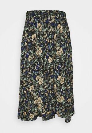 PCFLOELLE MIDI SKIRT  - A-line skirt - black