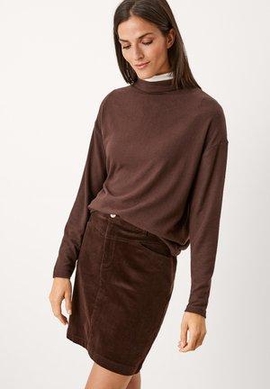 Long sleeved top - dark chocolate melange