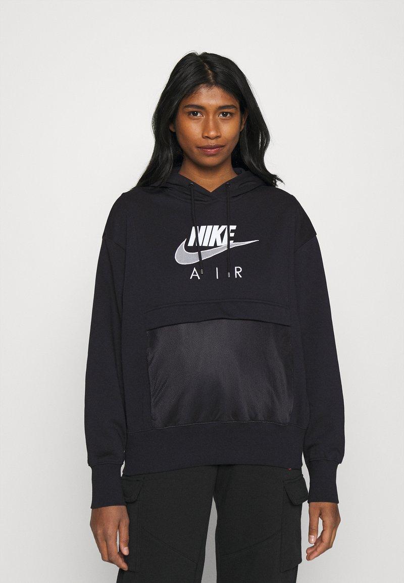 Nike Sportswear - AIR HOODIE - Hoodie - black/white