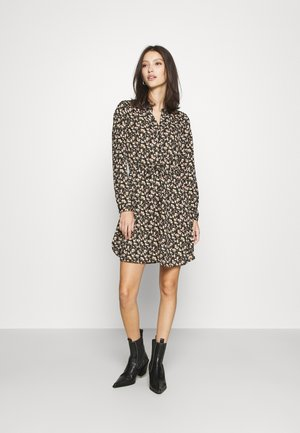 ONLCORY V NECK TUNIC - Shirt dress - black/sarah