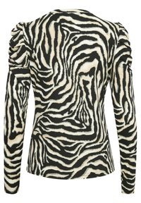 Kaffe - Long sleeved top - black/beige zebra print - 5
