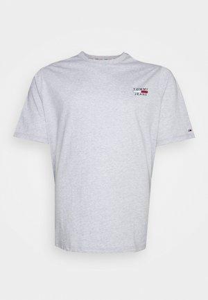 CHEST LOGO TEE - T-shirt imprimé - silver grey heather