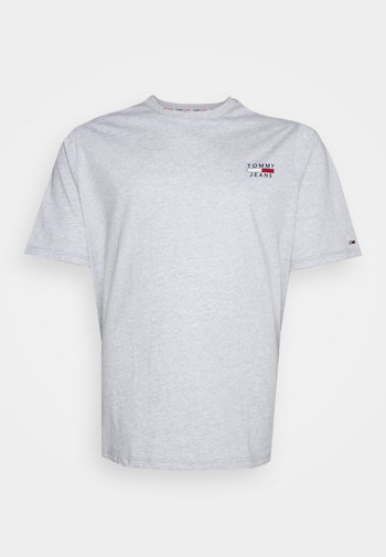 CHEST LOGO TEE - Print T-shirt - silver grey heather