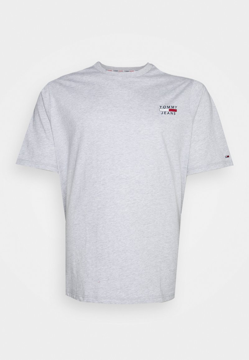 Tommy Jeans Plus - CHEST LOGO TEE - Print T-shirt - silver grey heather