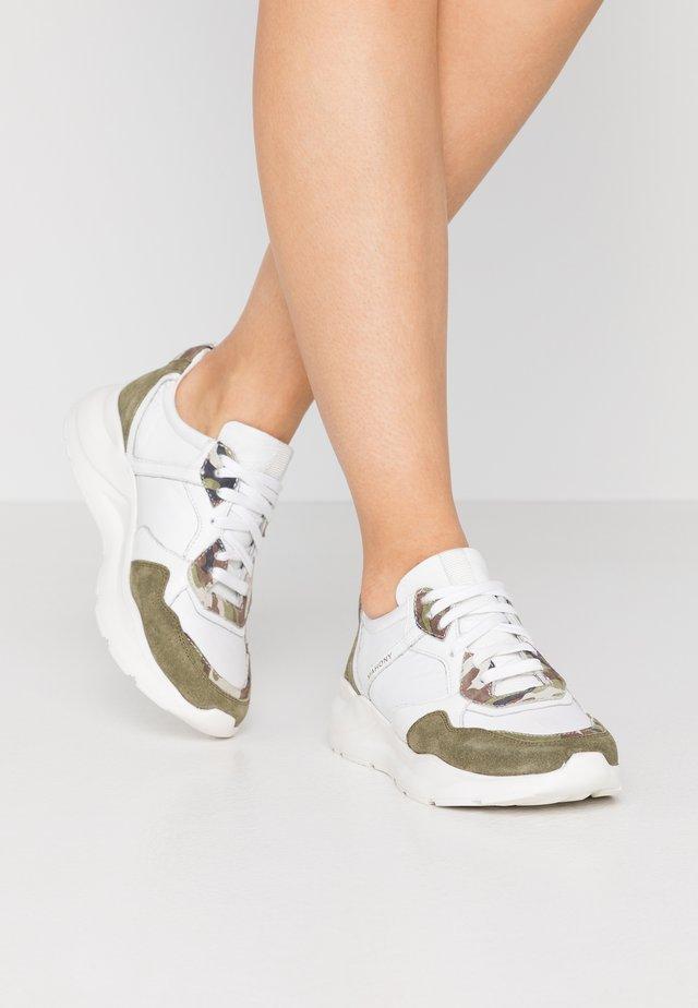 Sneakers basse - khaki/offwhite