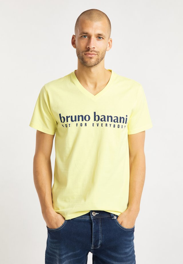 T-shirt med print - gelb