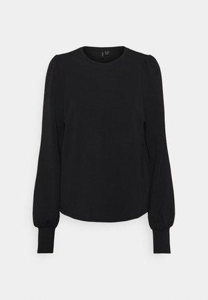 VMMUSHY SLIT TALL - Long sleeved top - black
