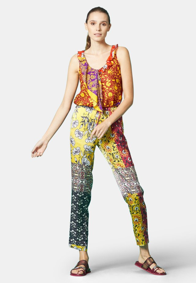 Leggings - Trousers - curry